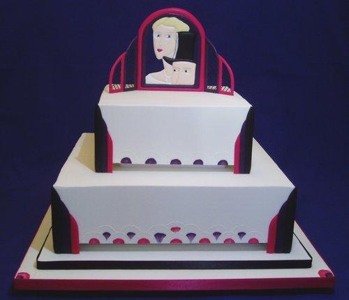 Art Deco Wedding Cake: WOW Cakes by Wendy Broadhead